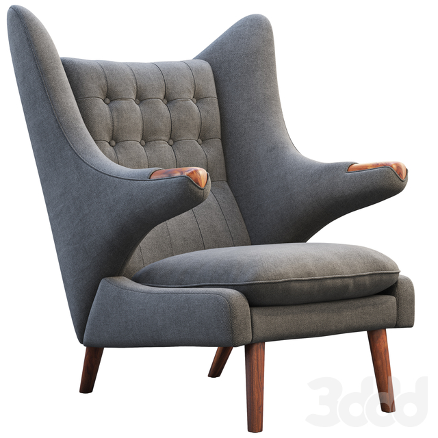 PP19 Papa Bear chair and ottoman