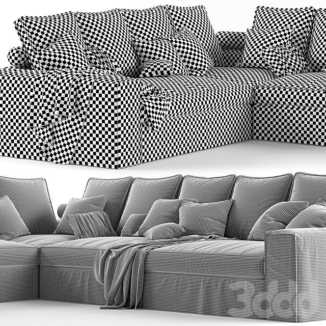 Угловой диван Alberta Salotti Santorini
