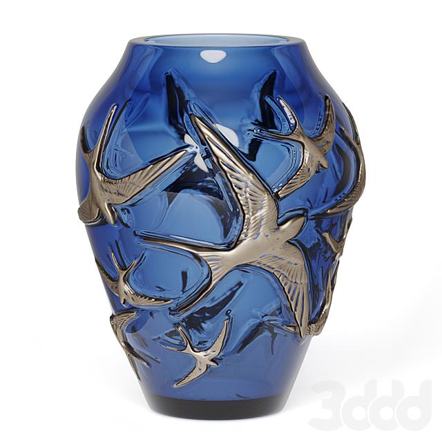 Lalique Vase hirondelles