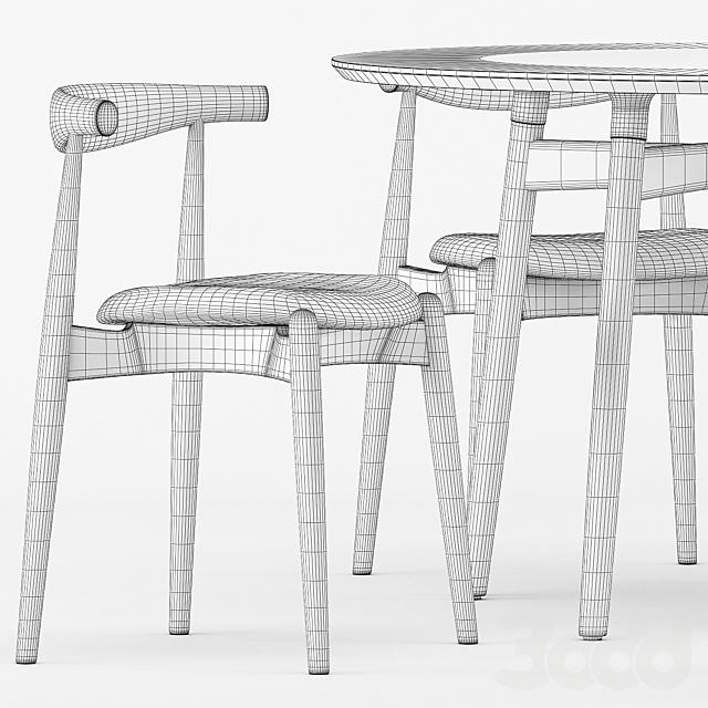 BA103-120 PRELUDIA ROUND TABLE, CH20 by Carl Hansen & Son