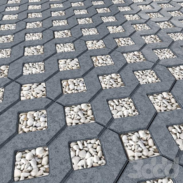 """Газонная бетонная решетка """"МЕБА"""""""