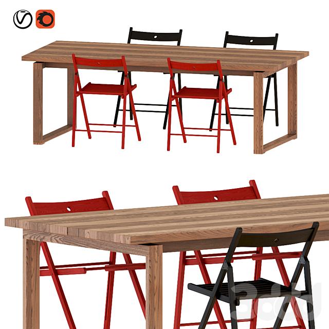 IKEA MÖRBYLÅNGA table & chairs