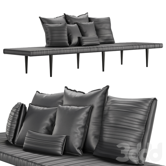 Baxter Garcon  bench and pillows