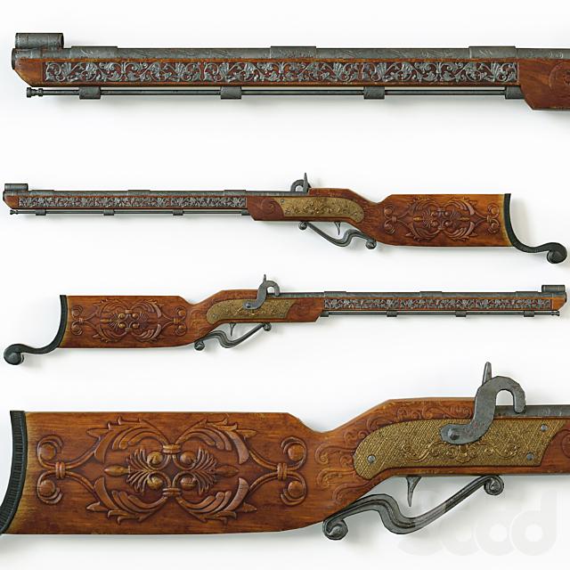 Винтажное декоративное ружьё