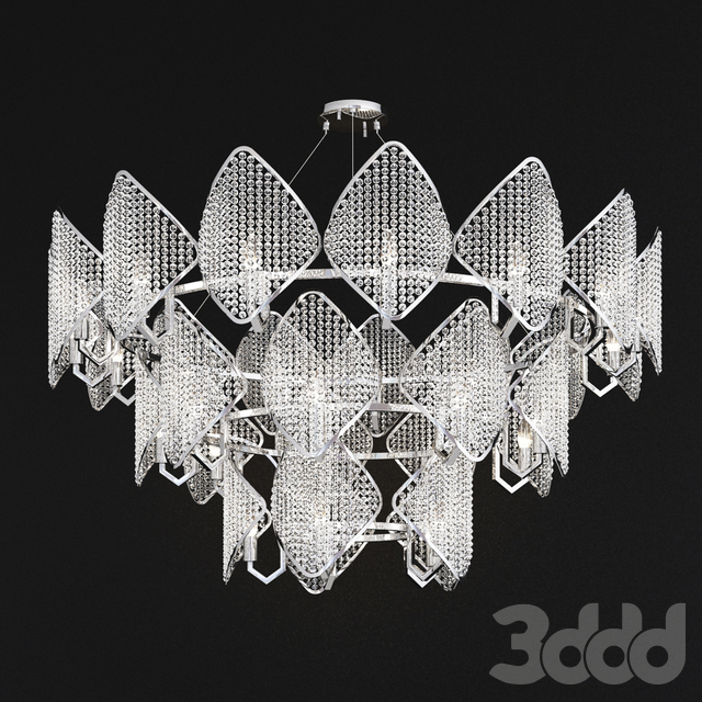 Ritz - Crystall Leaf Chandelier 29 hrom