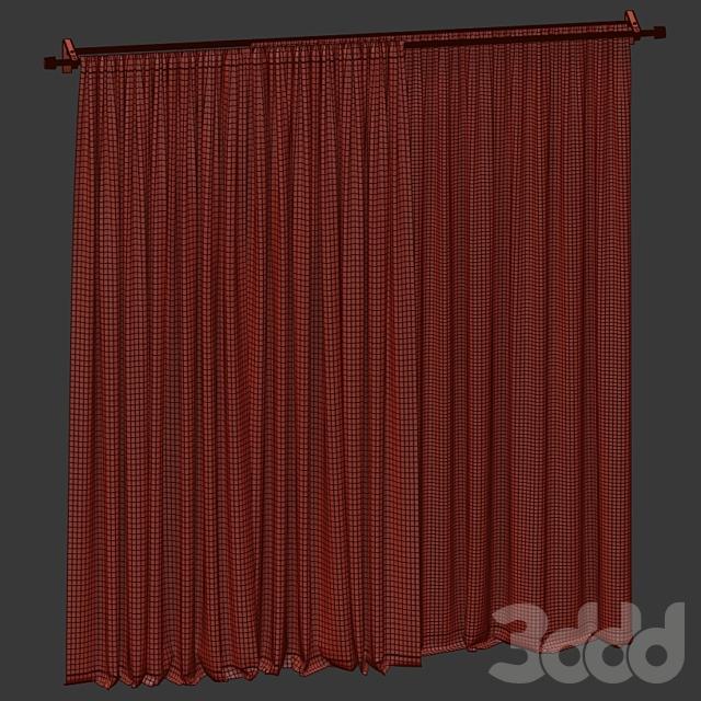 Бархатные шторы с тюлем