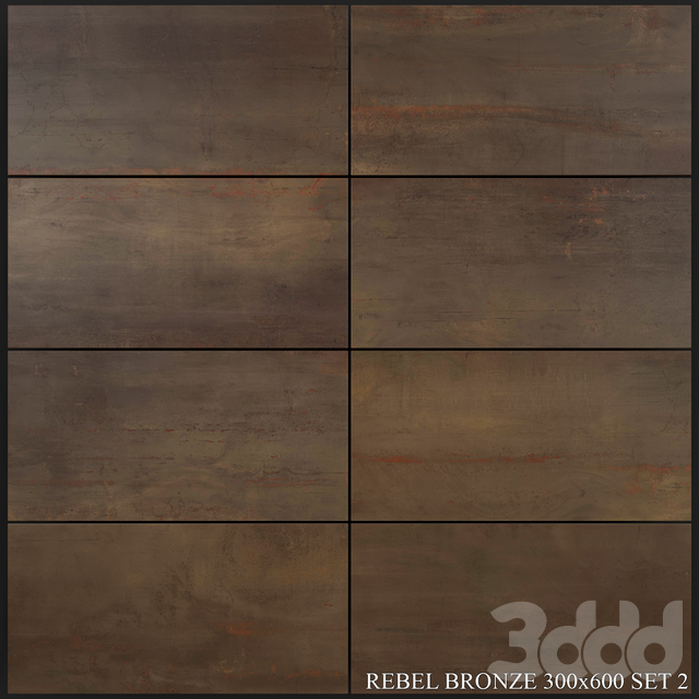 Flaviker Rebel Bronze 300x600 Set 2