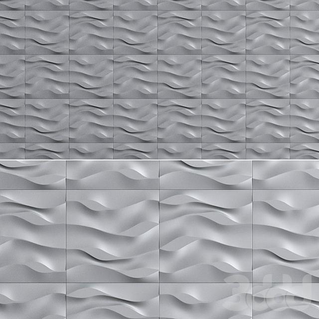 Гипсовая 3D панель Листья на песке
