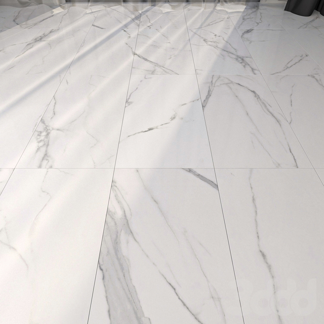 Marble Floor Afyon White Set 2