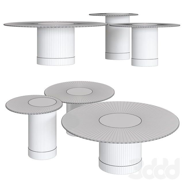 Tau Round Coffee Table by Reflex