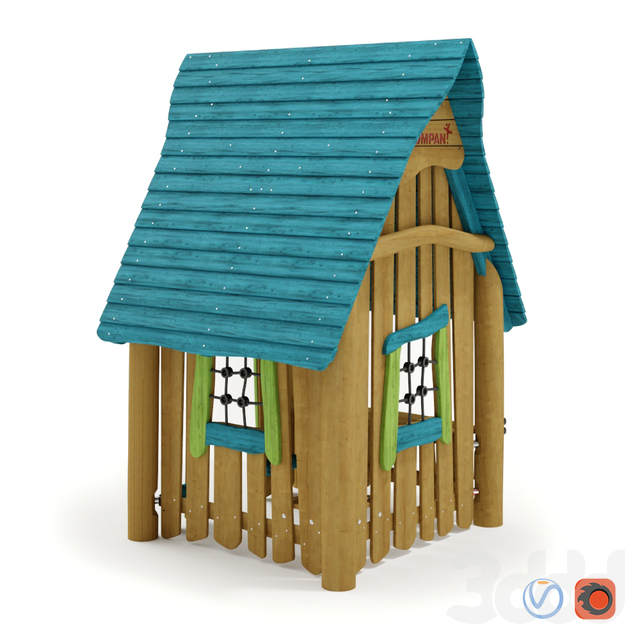 KOMPAN. PLAYHOUSE WITH CLASSIC ROOF