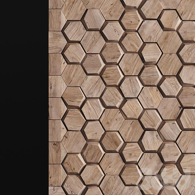 Деревянная декоративная панель 03