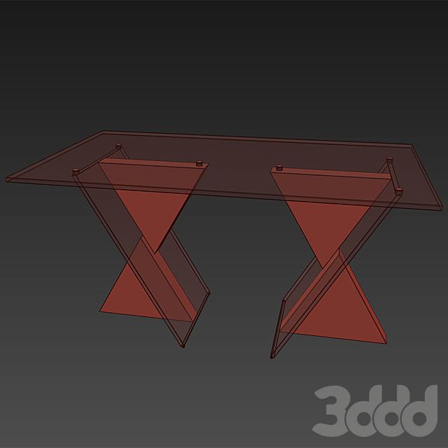 Стол Reflex Angelo Delta 72/2 Прозрачный