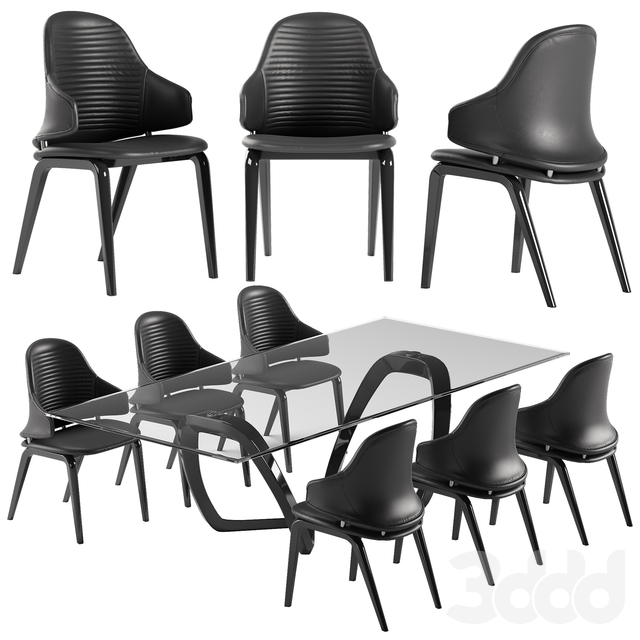 Reflex Vela chair Segno table set