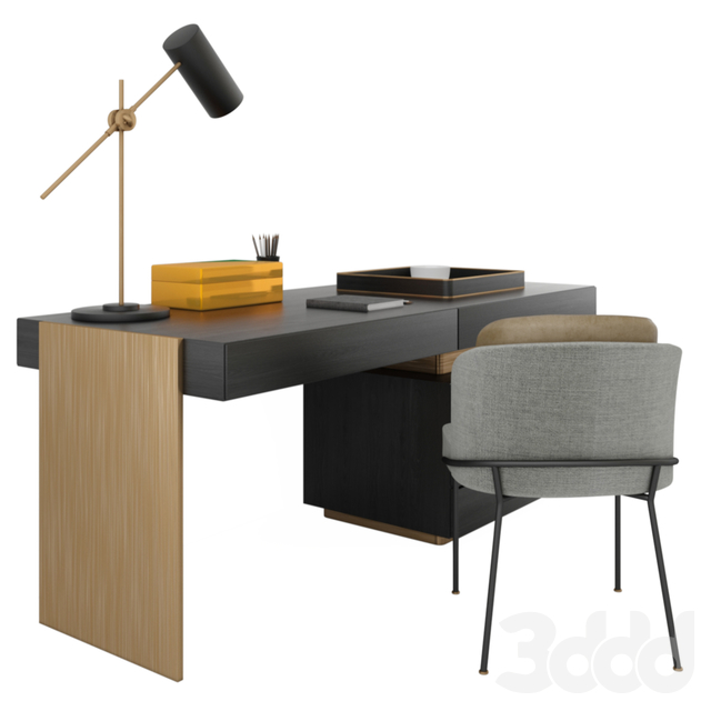 Minotti carson writing table