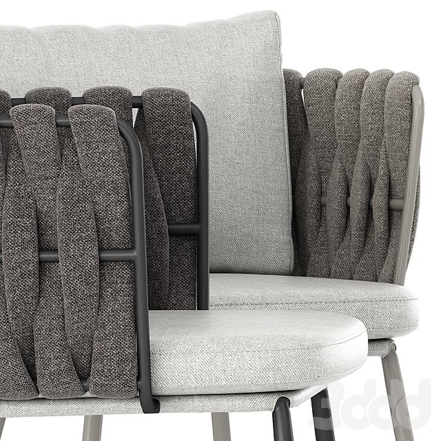Tosca armchair by Tribu
