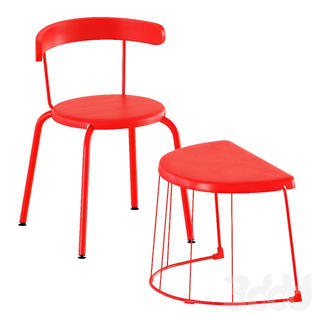 Ikea Tranarö Table and Yngvar Chairs