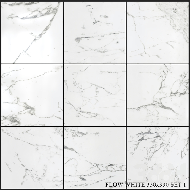 Yurtbay Seramik Flow White 330x330 Set 1