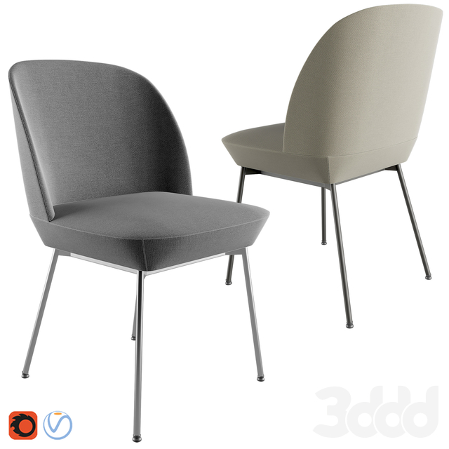 Muuto Oslo chair & 70/70 Table By Muuto
