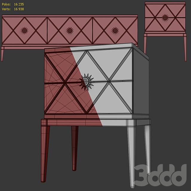 Комод / TV тумба и тумба прикроватная Gatsby. Nightstand, tv stad by Cavio Casa