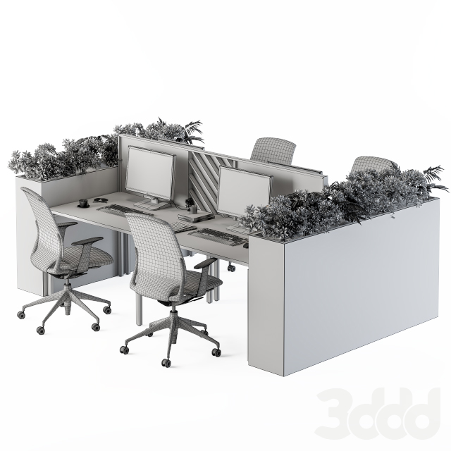 Office Furniture Flower Box Black