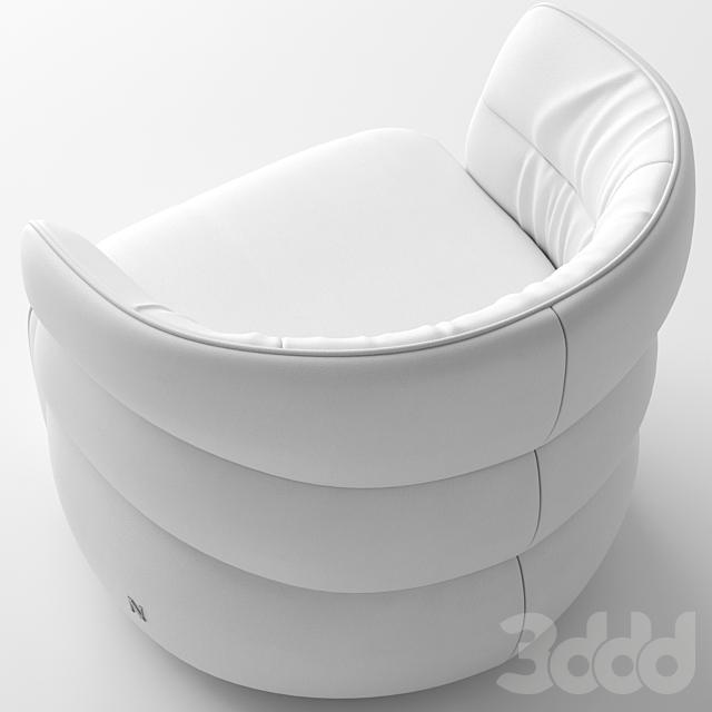 Natuzzi Couture armchair