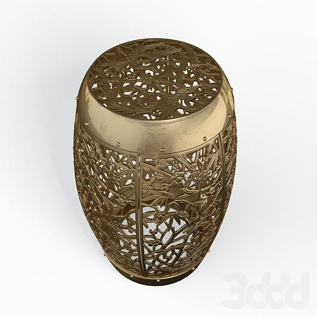 Пуфик Midcentury Asian Inspired Garden Stool
