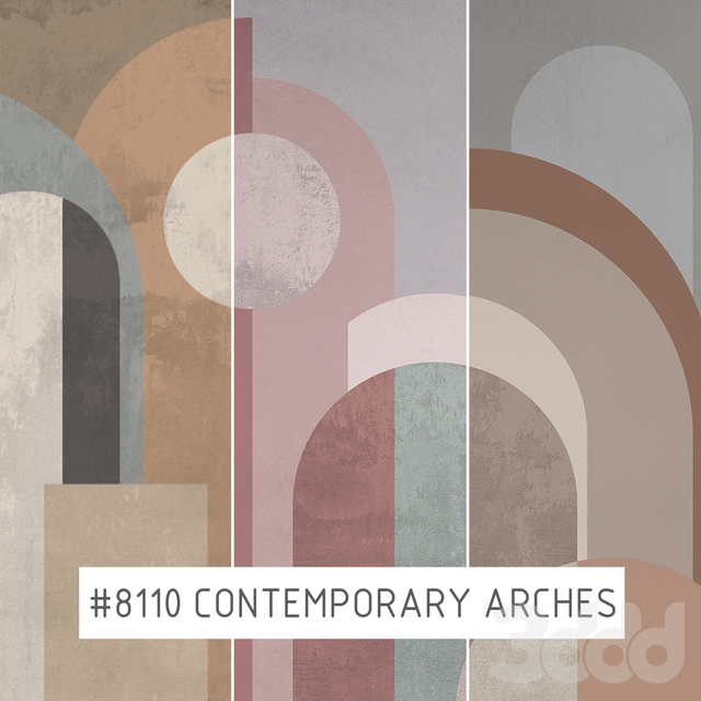 Creativille | Wallpapers | Contemporary arches 8110