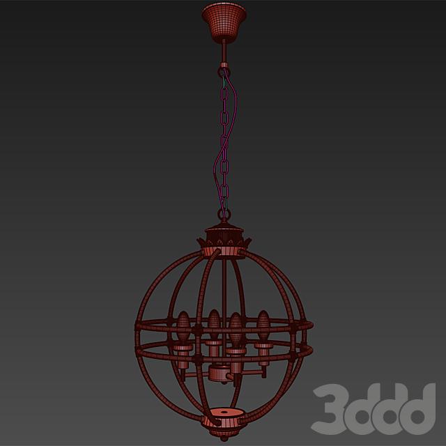 Светильник подвесной от Garda Decor винтажный (хром) K2MP-766P-4