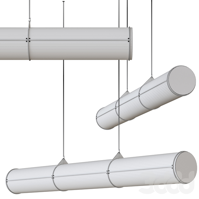 Endless Woody Straight by Roll & Hill Suspended Lamp