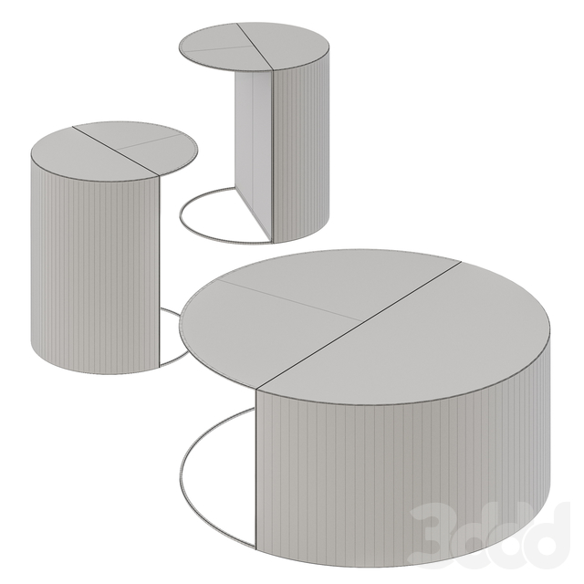 Forma & Cemento Normann Side & Coffee Tables