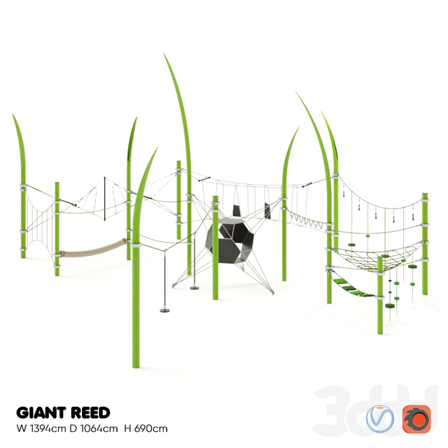 KOMPAN. GIANT REED