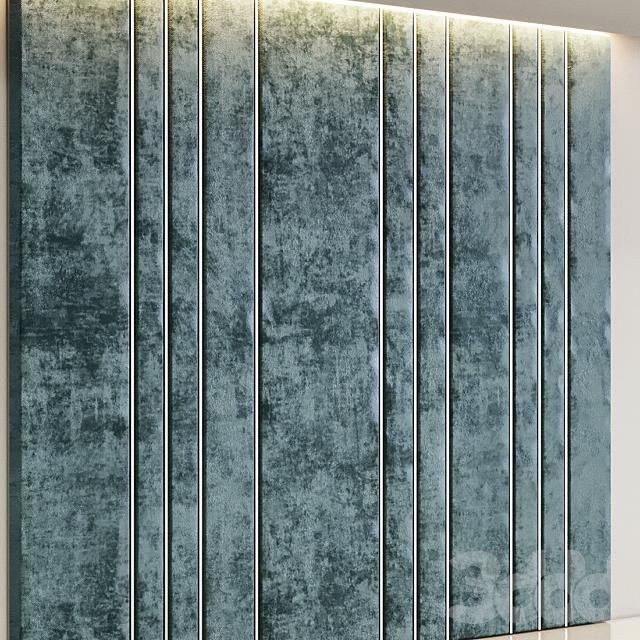 Декоративная панель из зеленого вельвета