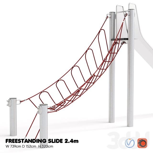 KOMPAN. FREESTANDING SLIDE 2.4m