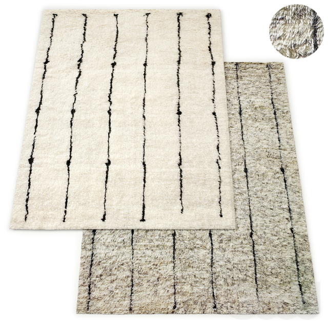 Corsivo Hand-Knotted Wool Rug RH Collection