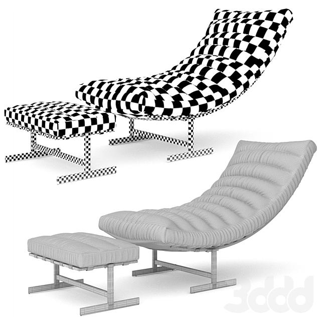 Valenti Leather Chair & Ottoman