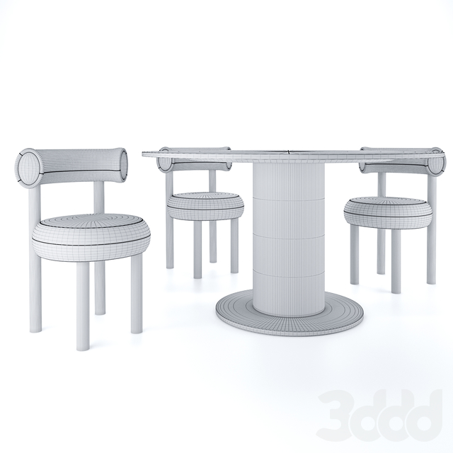 Tom Dixon FAT Dining chair & TUBE WIDE Dining table