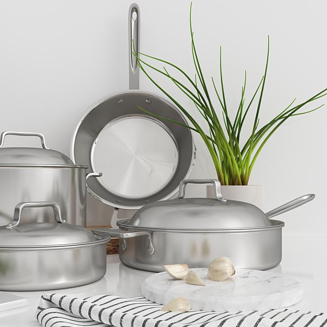 Набор кухонной посуды All-Clad \ All-Clad cookware set