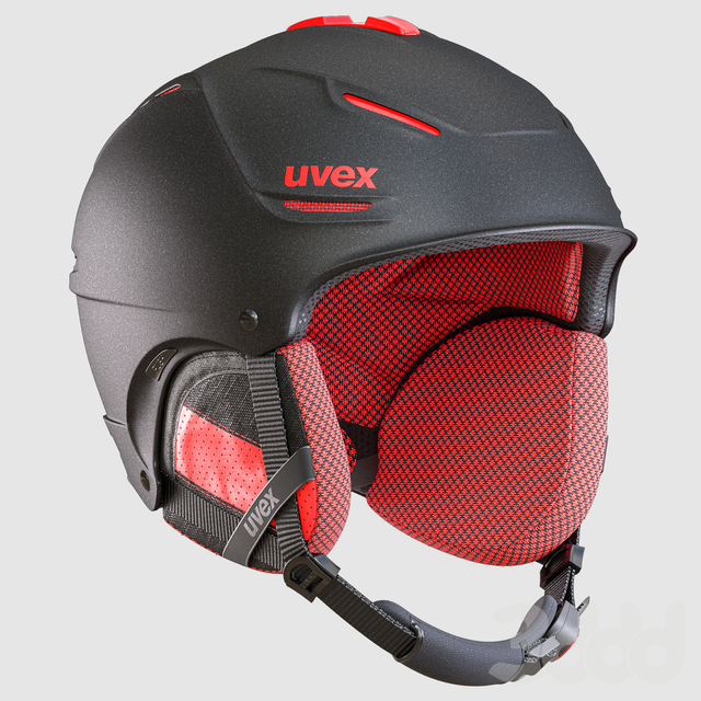 Ski Helmet and Goggles Uvex