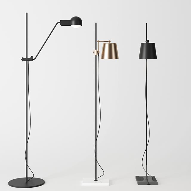 Floor lamps by karakter copenhagen