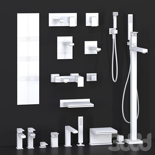 Gessi Rettangolo bathroom mixer collection