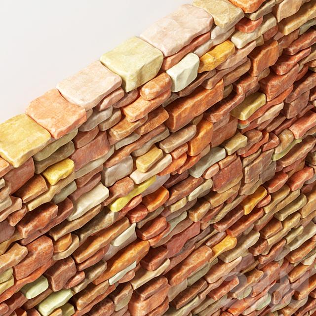 Brick stone wall smooth many part / Декоративный гладкий кирпич
