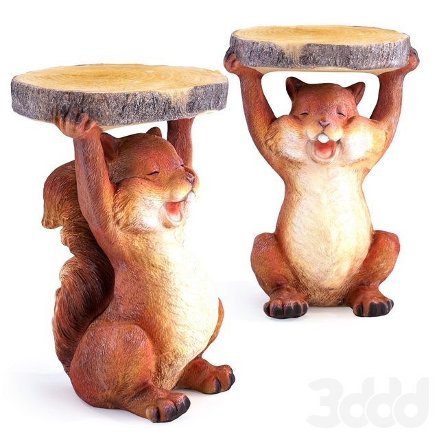 Side Table Animal Mini Squirrel