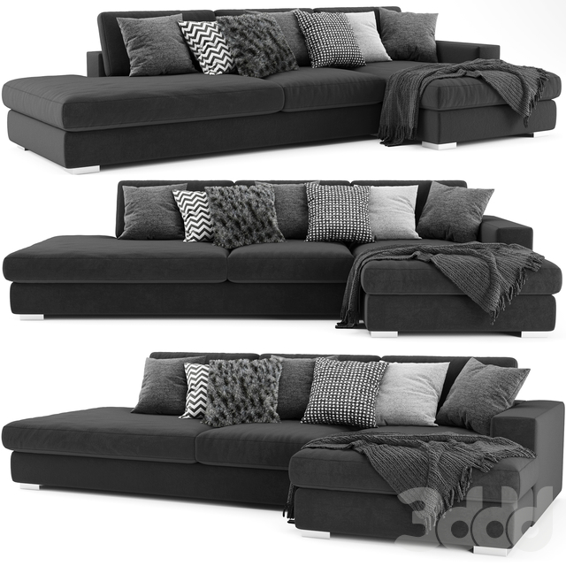 BoConcept Cenova Chaise Longue Sofa 2
