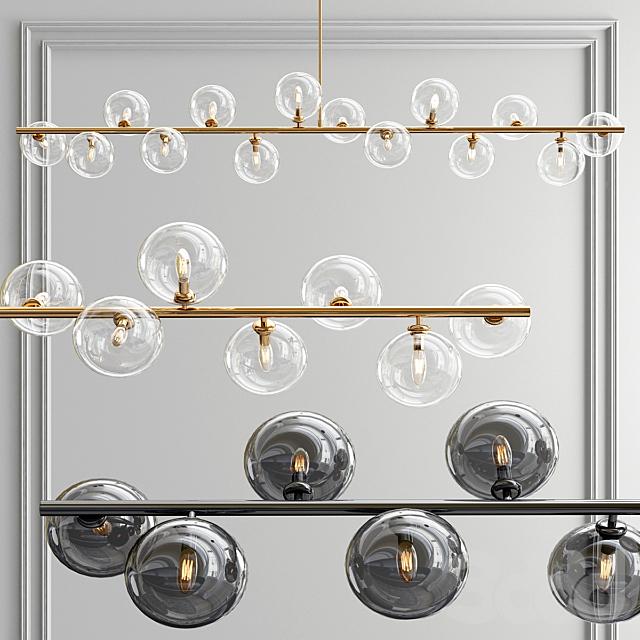 Linear Bubble Pendant Light