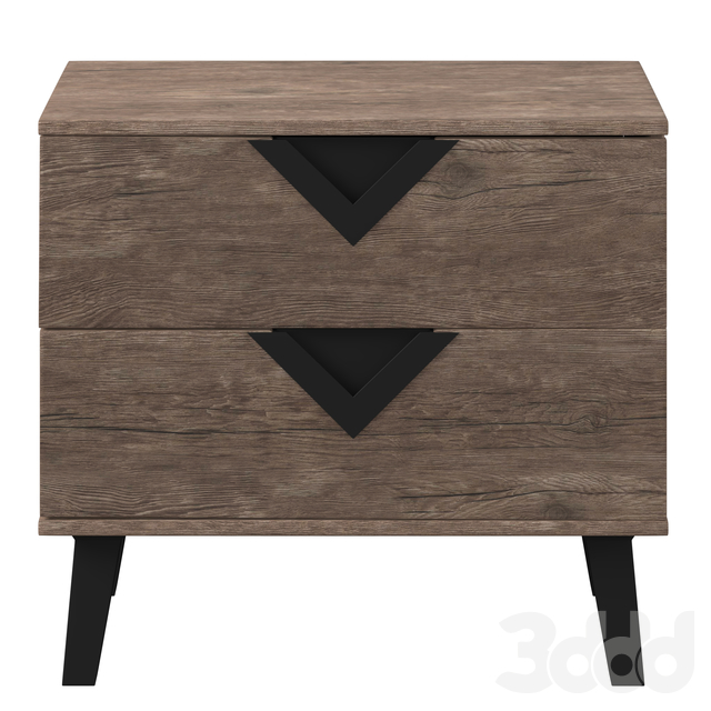 Swanson Modern Light Brown Wood Nightstand
