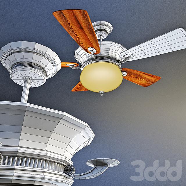DELANO, потолочный вентилятор от компании Minka Group, USA.