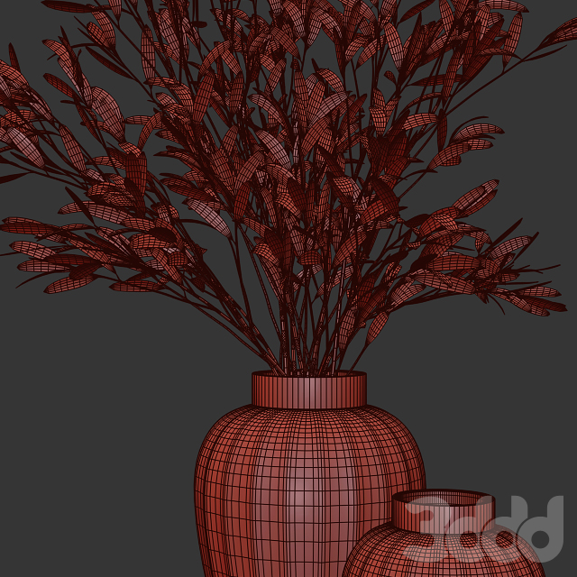Olive stems in zara glass vase with water