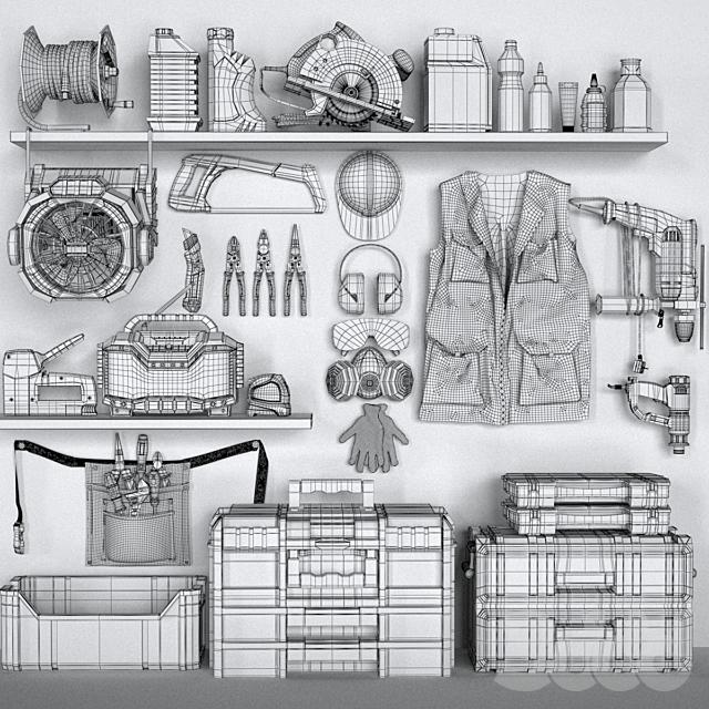 garage tools set 4