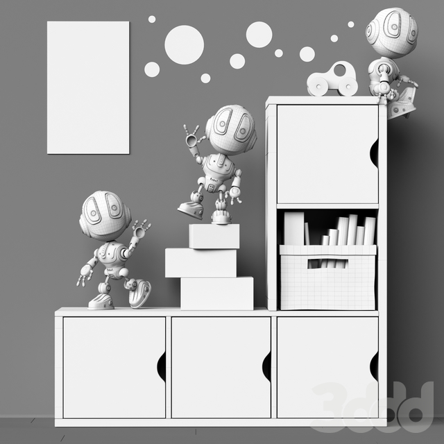 Toys and furniture set 68